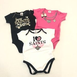 NFL New Orleans Saints Baby Bodysuits 6-12 months